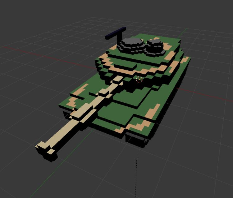 Image of FBX model:  ABRAMS TANK 1