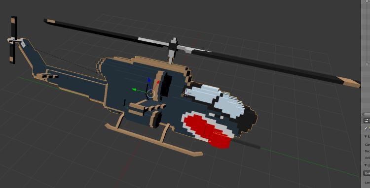 Bell AH1 Cobra fbx screenshot Scale 1