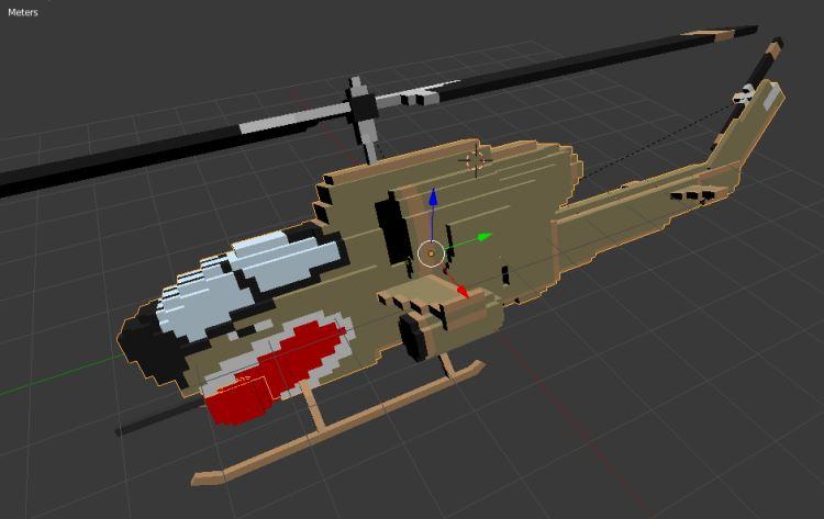 Bell AH1 Cobra Olive fbx screenshot