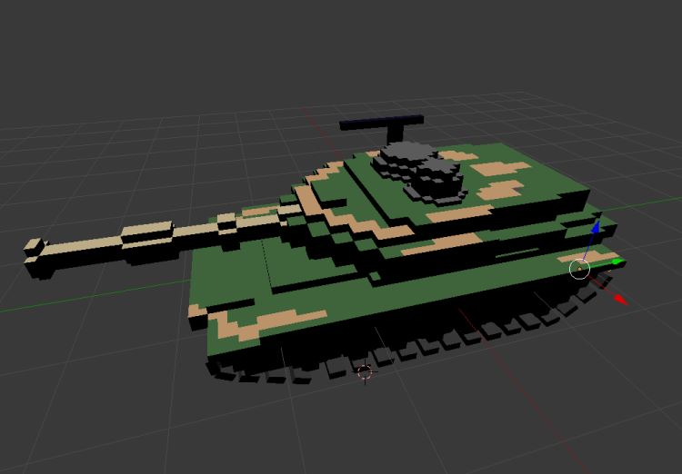 tank w/ multiple treads for visualisation