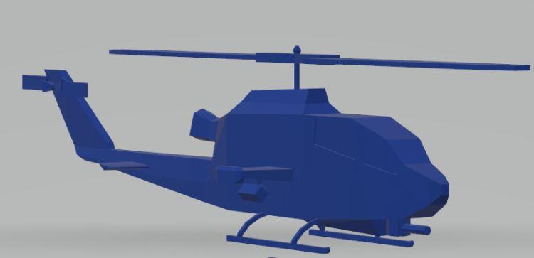 Bell AH1 Cobra Lowpoly